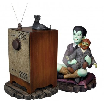 The Munsters Eddie Munster and Television Maquette 16 cm