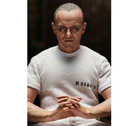 The Silence of the Lambs Action Figure 1/6 Hannibal Lecter White Prison Uniform Version 30 cm