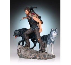 The Walking Dead Daryl and the Wolves Statue