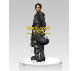 The Walking Dead Glenn in Riot Gear Statue