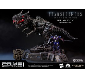 Transformers Age of Extinction Museum Master Line Statue Grimlock Optimus Prime Version 61 cm