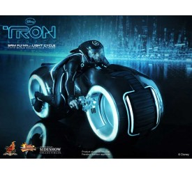 Tron Legacy Movie Masterpiece Action Figure 1/6 Sam Flynn with Light Cycle 30 cm