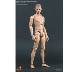 True Type Figure Body Action Figure 1/6 Caucasian Blonde Narrow Shoulder Version 30 cm
