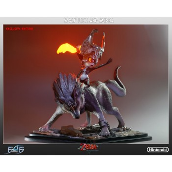 Twilight Princess Wolf Link and Midna 16 inches scale statue Exclusive