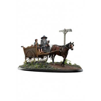 The Lord of the Rings The Fellowship of the Ring Statue 1/6 Gandalf and Frodo on Cart 78 cm