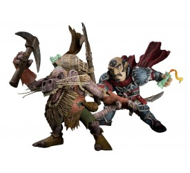 World of Warcraft Series 8 Action Figure Gnome Rogue vs Kobold Miner 18 cm
