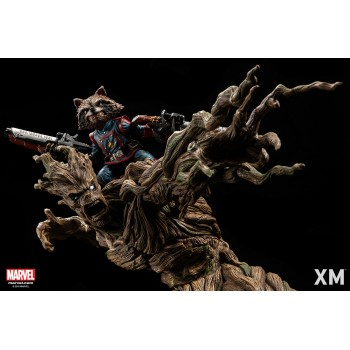 Marvel Premium Collectibles Series Statue Groot and Rocket Raccoon